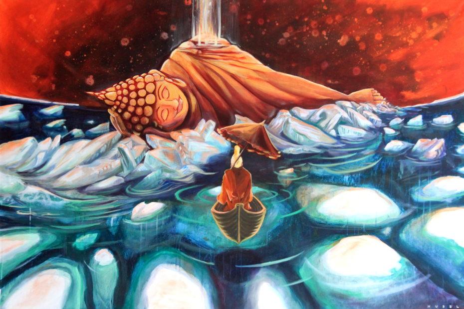 Buddha im Eis ©️Florian Hussl